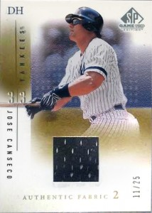 2001 SP Game Used Gold /25