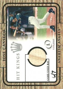 2001 Fleer Legacy Hit Kings Bat Buyback /7