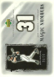 2001 Ultimate Collection Magic Numbers Game Jersey Silver /20