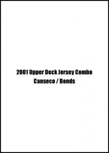2001 Upper Deck Jersey Combo w/Bonds #BB-JC