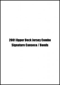 2001 Upper Deck Jersey Combo Signature w/Bonds #S-BB-JC /10