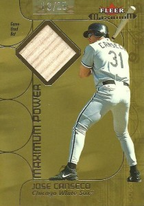 2002 Fleer Maximum Power Bat Gold /25