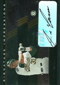 2003 Playoff Prestige Signature Impressions Autograph /10