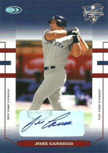 2004 Donruss World Series Blue Signature #26 Yanks /5