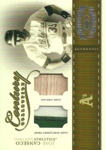2004 Throwback Threads Century Collection Prime Patch/Bat /10