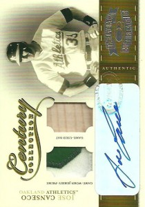 2004 Throwback Threads Century Collection Prime Patch/Bat Autograph /10