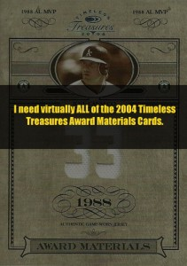 2004 Timeless Treasures Award Jersey (need almost ALL of versions of this)