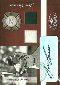 2005 Donruss Classics Home Run Heroes Signature Materials Hat-Jsy /10