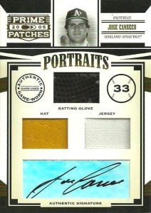 2005 Donruss Prime Patches Triple Glove/Hat/Jersey Autograph /25