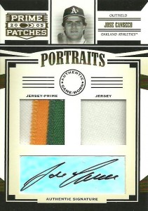 2005 Donruss Prime Patches Double Patch/Jsy Auto /6