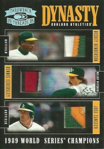 2005 Throwback Threads Dynasty Triple Patch /5
