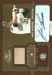 2005 Timeless Treasures Home Run Materials Bat Autograph /3