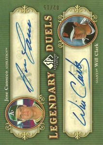 2005 SP Legendary Cuts Legendary Duels Autograph /15