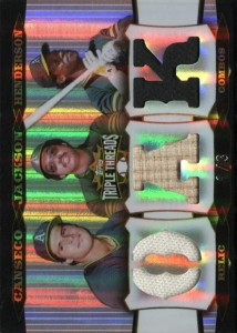 2006 Topps Triple Threads Relic Combos Platinum /3