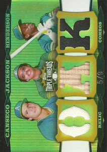 2006 Topps Triple Threads Relic Combos Gold /9