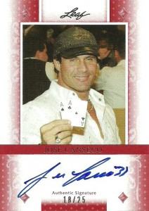 2011 Leaf Poker Diamonds Autograph /25
