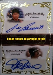 2011 Leaf Legends of Sport Duo Autograph w/Palmeiro (all of them)