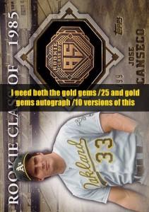 2014 Topps Class Rings Gold Gem /25 & Gold Gem Autograph /10
