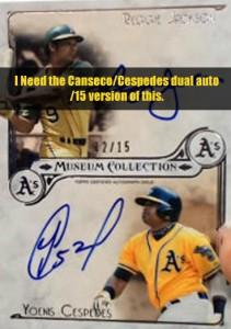 2014 Museum Dual Autograph w/Cespedes /15