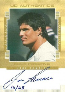 2000 Upper Deck Gold Reserve UD Authentics Gold Autograph Card /25