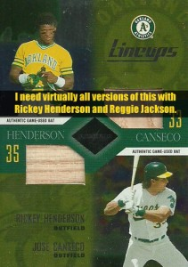 2003 Leaf Limited Lineups (Need virtually all versions w/ Reggie or Rickey)