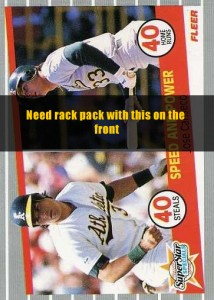 1989 Fleer Rack Pack