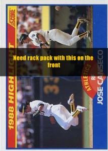 1989 Score Rack Pack