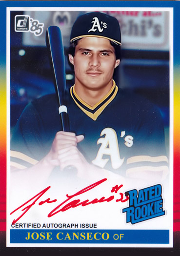 1985 Donruss Red Ink Autograph Custom