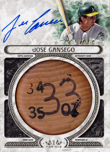 2016 Tier One Game Used Bat Knob Autograph 1/1
