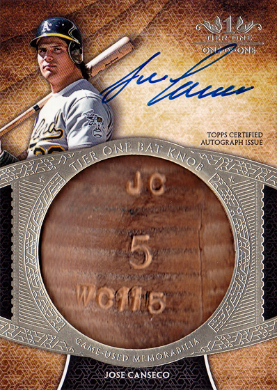 2017 Tier One Bat Knob Autograph 1/1