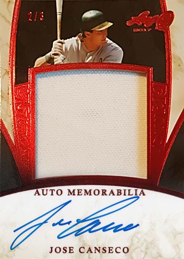 2017 Leaf Q Autograph Memorabilia Red /3