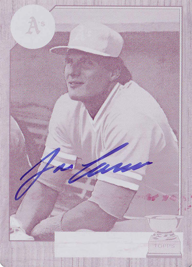 2016 Topps Archives Walmart Magenta Printing Plate 1987 Topps #620 Autograph 1/1